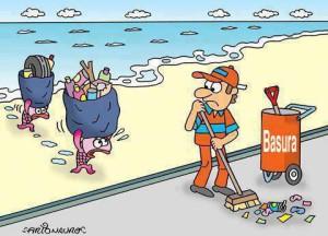 viñeta basura
