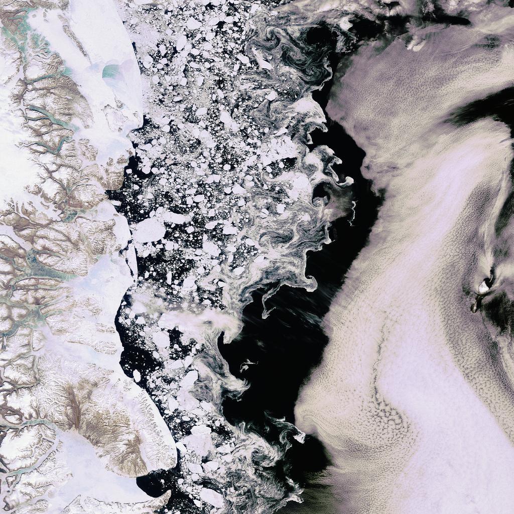 Disminución del hielo polar debido al cambio climático