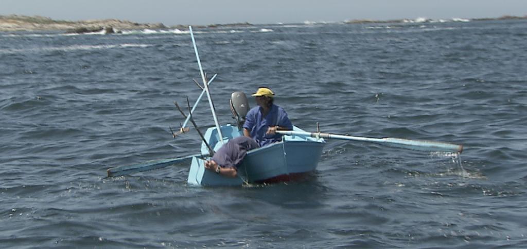 Pesca centolla con gancho/espejo (Foto: SAGA TV)