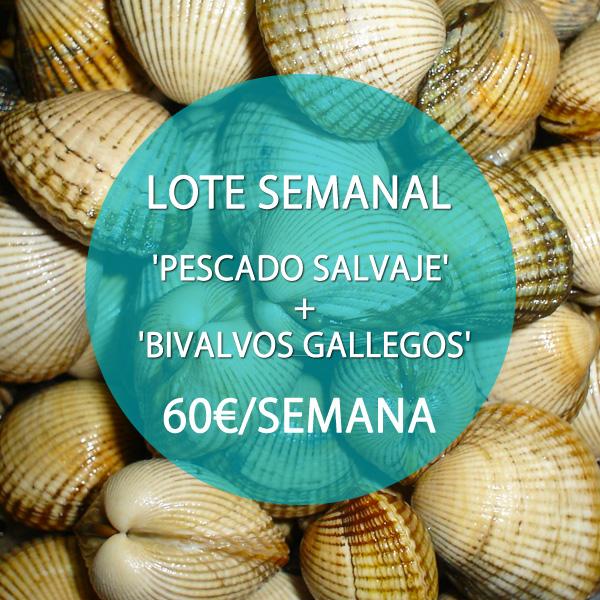 LOTE MARISCO Y PESCADO SALVAJE: 60 €/SEMANA
