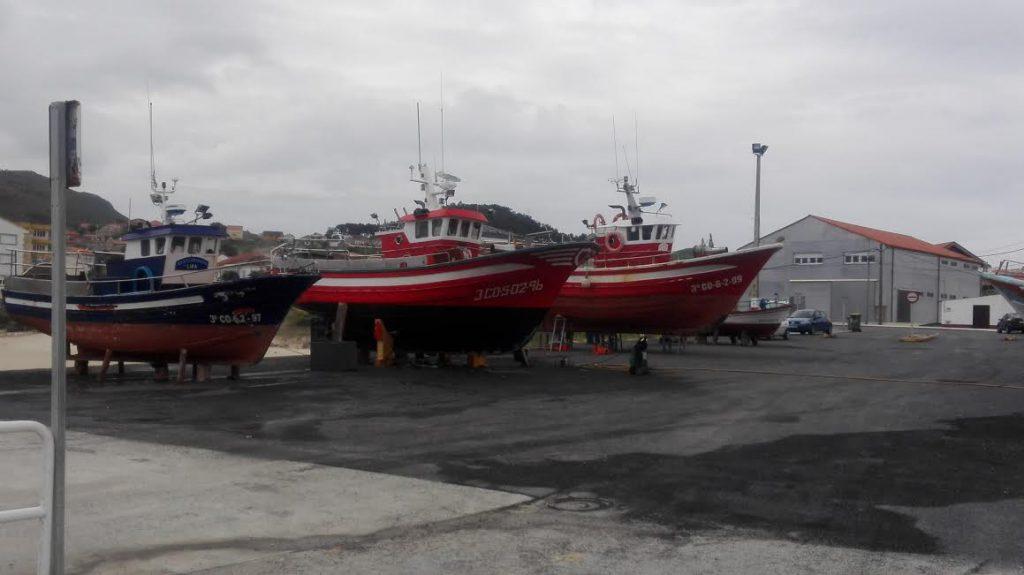 Varada de embarcaciones en Portocubelo (Lira)