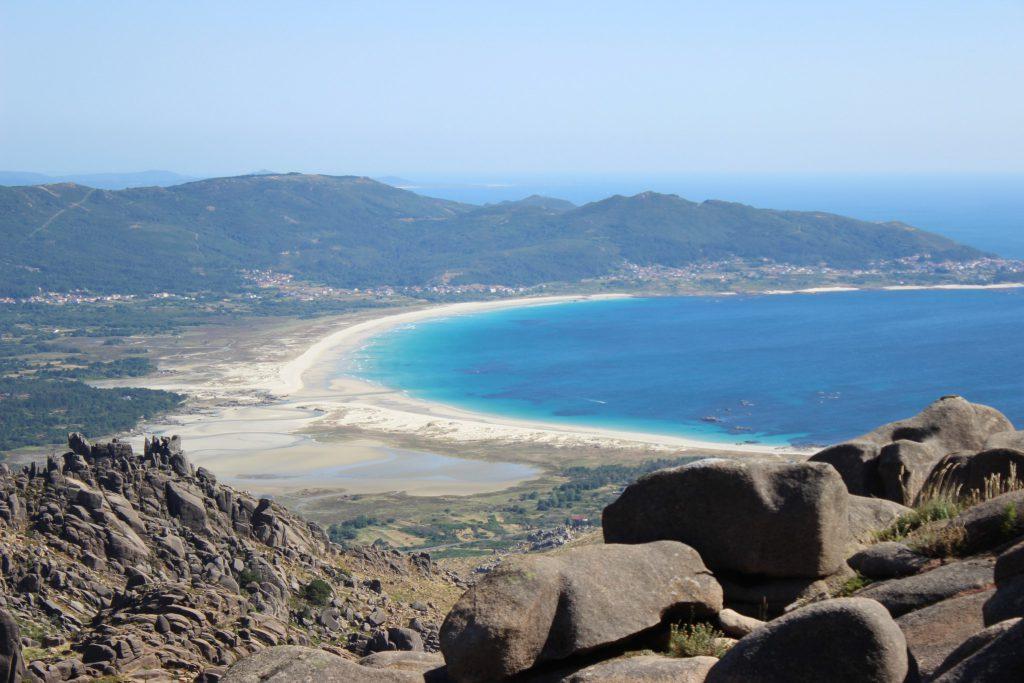 Playa de Carnota desde la subida al monte el Pindo