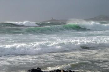 Fuerte temporal en Playa de Lariño