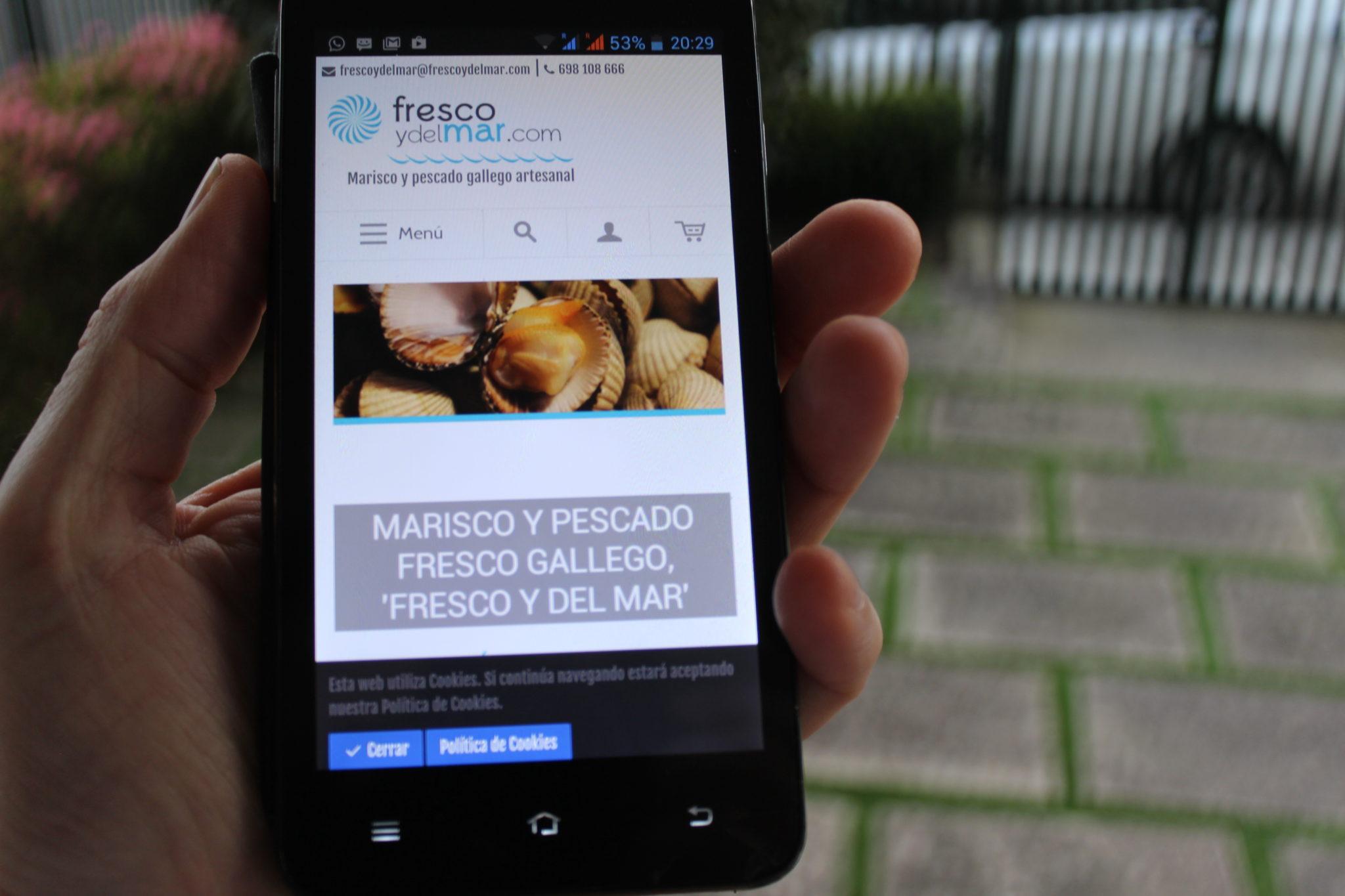 Comprar pescado y marisco online en 'Fresco y del Mar' desde tu smartphone