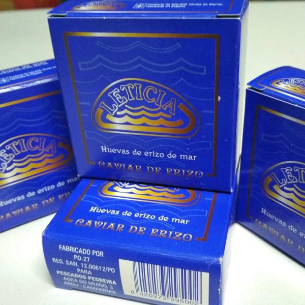 Caviar de erizo de mar en lata de 70 gramos