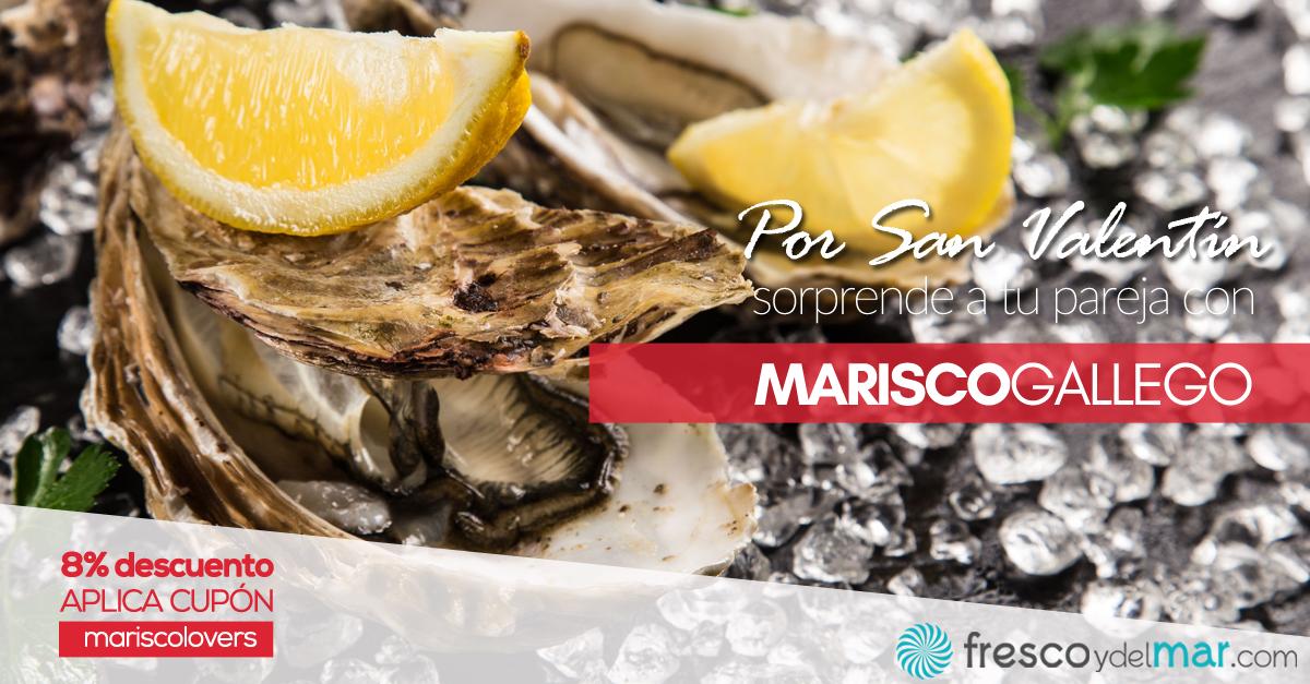 Oferta de Marisco de Galicia por San Valentín