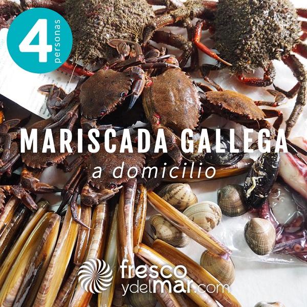 Mariscada gallega para 4 personas