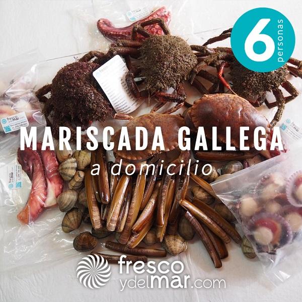 Mariscada gallega para 6 personas